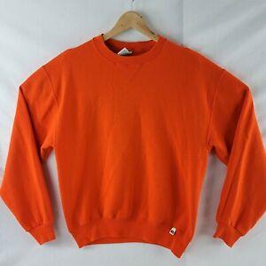 Russell Athletic Blank Sweatshirt Crewneck medium orange 90s classic vintage