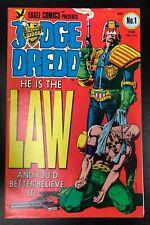 JUDGE DREDD #1 : NOV 1983 : JOHN WAGNER, BRIAN BOLLAND : EAGLE COMICS : CCX