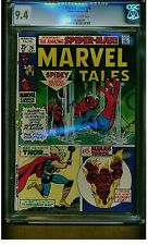 MARVEL TALES #26 CGC 9.4 NEAR MINT 1970 THOR HUMAN TORCH OFF WHITE TO WHITE PAGE