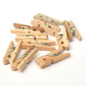 WOODEN CLOTHES PEGS CLIPS DLUX WASHING LINE DRY LINE AIRER WOOD PEG GARDENS