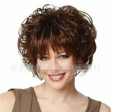 Fashion Heat Resistant Synthetic Women's Short Hair Fluffy Curly Hair Full Wig