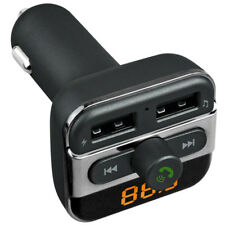 Bluetooth Hands-Free Mp3 Tf Card Slot Dual Usb Port Car Charger Fm Transmitter