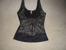 DONNA KARAN Intimates Shapewear Black Front Hook,Lace, camisoles S-L,Underbust