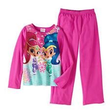 Nickelodeon Summer Shine 2 Piece Long Sleeve Sleepwear Set Pink 4/5
