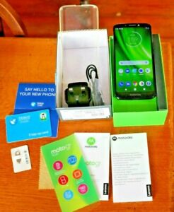 Motorola Moto G6 Play Indigo Dual sim + Memory on Tesco Network VGC with Box