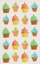 Mrs. Grossman's Giant Stickers - Watercolor Cupcakes - 2 Strips