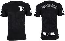 True Religion Mens T-shirt Mesh Football With Embroidered Buddha Black 3xl