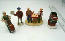 Coca Cola Figurine Lot of 4 Barrel, '93 Newstand, Town Square '94, Hot Dog '93