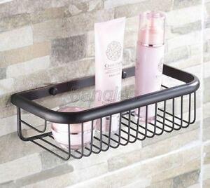 Bathroom Accessories Black Oil Brass Wall Mount Shower Storage Baskets 8ba125