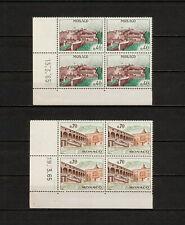 (YYAY 265) Monaco 1964 - 1965 MNH Mich 777 - 778 Palace Block of 4