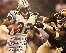 Carolina Panthers, Rod Smart singed 8x10 custom photo (LANDSCAPE) w/3Pro Sports