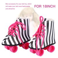 1Pair Exquisite Doll Roller Skates Kids fun Toy Gift Doll Accs for 18 inch Doll