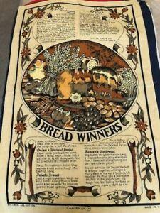 Vintage Causeway Linen & Cotton Tea Towel - Bread Winners - Recipes
