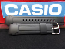 Casio Watch Band AMW-701.Black rubber Strap W/ Pins for Hunting Timer Watch