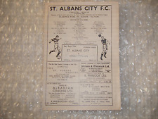 St. Albans City v Kingstonian Saturday 13th September 1958 IL