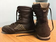 KAPPA HIGH TOP BOOTS BROWN SNEAKER SHOES WOMEN'S SIZE 7 RARE LEATHER GENTLY WORN