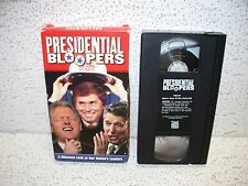 Presidential Bloopers VHS Video Out Of Print George Bush Ronald Reagan