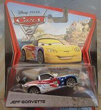 Disney Pixar Cars 2 Chrome Silver Jeff Corvette Diecast Xmas Present Gift