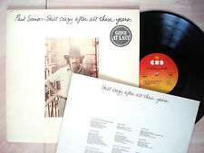 Paul Simon Still Crazy After All These Years + Inner Embossed A1 B1 UK LP EX/EX+