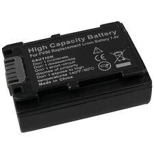 BATTERIA per np-fv50 Sony hdr-cx115e batteria Li-ion
