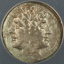 215-213 BC Roman Quadrigatus-Didrachm Silver Coin Rome Mint ANACS AU-50 AKR