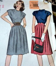 *LOVELY VTG 1940s DRESS Sewing Pattern 12/30