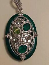 New Judith Ripka Green Agate Bold, Huge Enhancer
