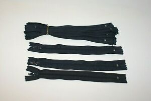 A Dozen Zippers, Zips, DIY, 18cm NAVY Colour (12pcs). YKK Brand