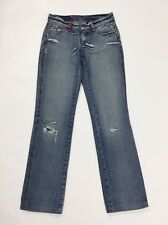 Clink jeans london donna W27 tg 40 41 slim denim usati destroyed strappi T2520
