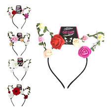 Floral Chat Oreille Bandeaux-Filaire Cheveux Fleur Bande Fancy Dress Cosplay Accessoire