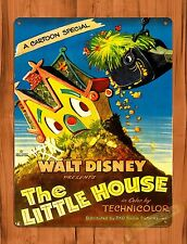 """""""The Little House"""" Disney Vintage Art Ride Painting Movie Poster Tin Sign"""