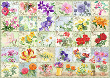 NEW! Ravensburger Vintage Flora 1000 piece country garden flowers jigsaw puzzle