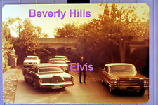 ELVIS PRESLEY BEVERLY HILLS WITH CARS 9/4/68 VINTAGE ORIGINAL PHOTO CANDID A