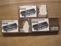 Märklin Mini-Club Spur Z 8946 x 3 Signal-Handschalter neuwertig in OVP