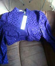 GINA BACCONI  purple Occassion Bolero Shrug Jacket sz 12/14