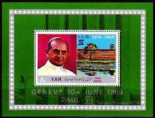 Yemen 1969 ** bl.100 a papa Pope Paul religión ilo