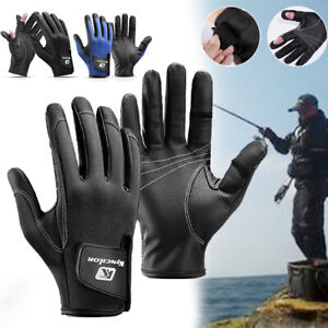 1 Pair Waterproof Fishing Gloves for Fishing Hunting Camping Outdoor Sports AU