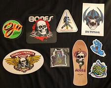 Collection Of 9 New Powell Peralta & Santa Cruz Stickers - McGill, Skull/Sword +