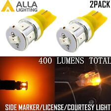 Alla Lighting 6-LED Side Marker Indicator Signal Light Bulbs Lamps Amber Yellow
