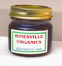 1/2 PINT HOMEMADE ORGANIC BLUEBERRY JAM- Picked in our yard & Cooked in kitchen