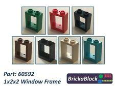 NEW & GENUINE Lego Part 60592 1x2x2 Window Frame (Choose 1,2,4,6,8 or 10)