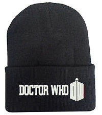 DOCTOR WHO DW BLACK BEANIE HAT