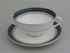 ROYAL DOULTON SHERBROOKE TWO HANDLED SOUP COUPE AND SAUCER.