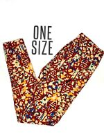 New LuLaRoe Leggings OS One Size Blue Red Yellow Multicolor Unicorn NWT B0255