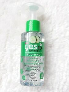 🥒NEW Yes To Cucumbers Soothing & Calming Micellar Cleansing Water 89 ml🥒