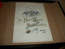 NOTRE DAME SCHOLASTIC 1908 EASTER