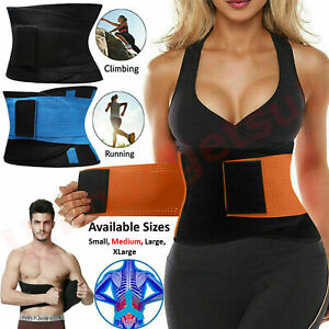 Waist Trainer Cincher Trimmer Sweat Belt Women Men Shapewear Gym Body Shaper LOT