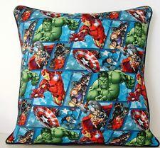 Marvel Comic Avengers w/ Black Widow, Hawkeye Allover Print Cotton Pillow New