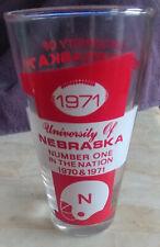 1971 Nebraska National Championship Commemorative Glass