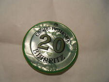 JETON CASINO 20 (64) BELLEVUE BIARRITZ 46MM VERT